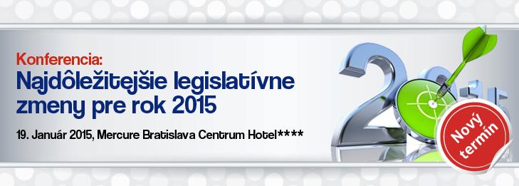 Najdolezitejsie legislativne zmeny pre rok 2015