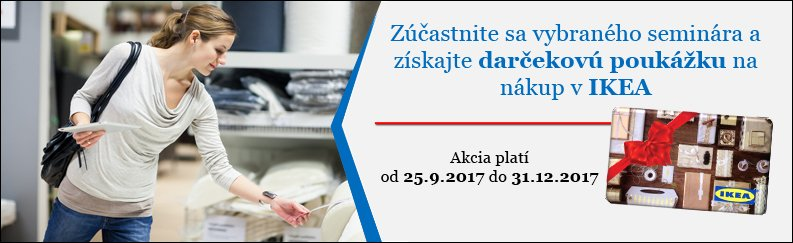 IKEA poukážka k semináru