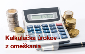 Kalkulačka výpočtú úroku z omeškania