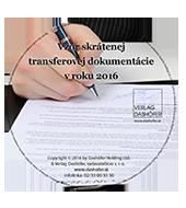 Vzor skrátenej transferovej dokumentácie v roku 2016