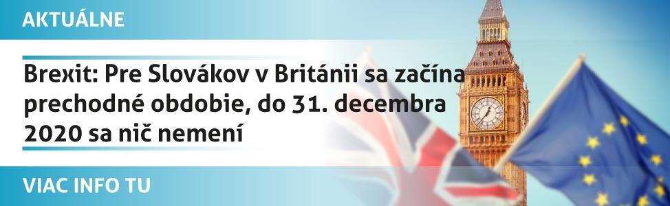 Brexit: Pre Slovákov v Británii sa zaèína prechodné obdobie, do 31. decembra 2020 sa niè nemení