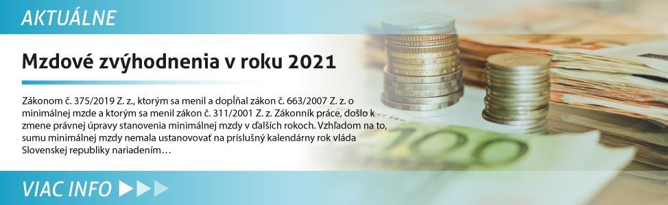 Mzdové zvýhodnenia v roku 2021
