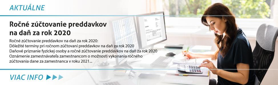 Roèné zúètovanie preddavkov na daò za rok 2020