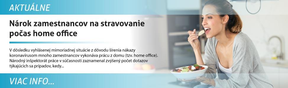 Nárok zamestnancov na stravovanie poèas home office
