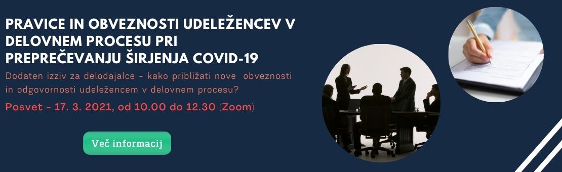 Pravice in obveznosti udele¾encev v delovnem procesu pri prepreèevanju ¹irjenja Covid-19